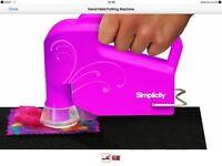 Simplicity handheld electric felting machine