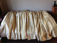 Laura Ashley gold striped lined curtains