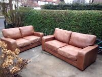 leather sofa 2 and 3 seater