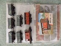 Airfix OO/HO railway models mineral wagons cattle wagon and brake van