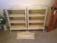 John Lewis x 2 Quality shelves/bookcases plus matching wall shelf