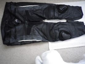 JTS leather trousers 44inch -46 very good condition, regular leg size