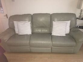 Three seater and two seater recliner sofa