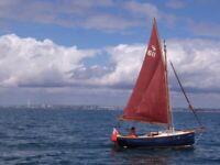Cornish shrimper boat outboard engine