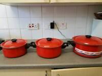 Non stick three pot
