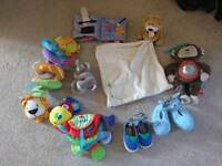 Baby bundle includes brand new shoes & slippers