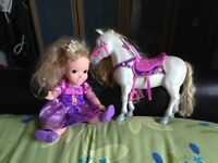 Repunzel and horse