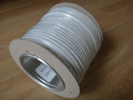 PHONE CABLE. 50m drum. CW1308 Two twisted pairs of solid copper cable. White PVC. Unused