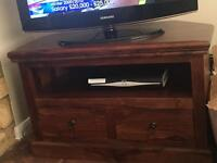 Wooden television unit