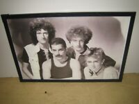 Queen Freddie Mercury; Brian May; Roger Taylor; John Deacon Large Framed Picture