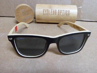 LeaO Optics Jits Players Bamboo Sunglasses float in water uv 400 (Sunglasses Float In Water)