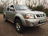 Low miles 82k fsh 1 owner 4x4 Nissan navara D22 2.5 DI Diesel double cab pick up truck 11 month Mot