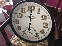 Fabulous Brand New Extra Large 1917 Vintage Style Station Clock Black