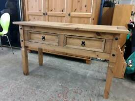 Corona Pine Console Table. Delivery Available