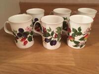 *Unused* 6 x fine bone China mugs
