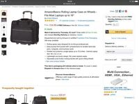 Laptop bag on wheels brand new in box