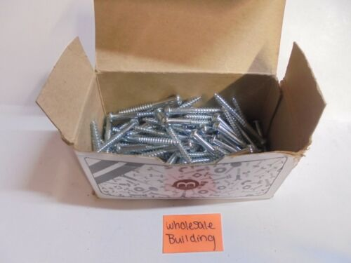 10X2 WOOD SCREWS, ROUND HEAD, ZINC CHROMATE, LOT OF 90