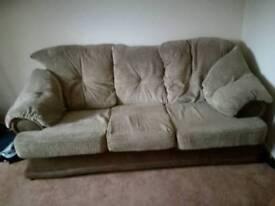 Sofa plus armchairs