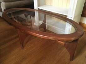 1960's Stateroom by Stonehill Mid Century Teak Coffee Table with Glass Top