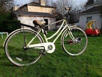 Ladies 3 speed Metropole Dutch Bike plus Wee Ride child seat & basket