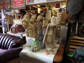 Rustic Bamboo Root Men for the Garden