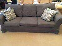 VGC 3 Seater Ikea Ektorp sofa in grey