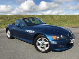 ABSOLUTELY STUNNING BMW Z3 2.8 WIDEBODY AUTO FULL SERVICE HISTORY VERY LOW MILEAGE A REAL ONE OFF!