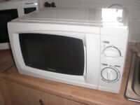 SIMPLE WHITE MICROWAVE. can deliver local