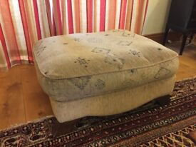 Large Geometric Fabric Foot Stool. Big enough for 4 people. - Or a seat
