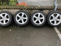 """Genuine 17"""" Audi alloys in good condition, and full set of winter tyres"""