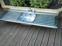 stainless steel double end drainer kitchen sink and new mixer tap £ 25 ono thanks