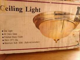 Unused glass ceiling light