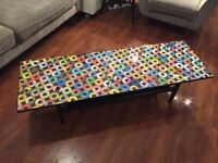Ska Reggae 7s Label Artwork Decoupage Coffee Table Retro