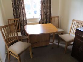 Drop Leaf Dining Room Table and 4 Chairs