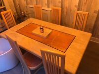 Solid Marble Dining Table & 6 Chairs