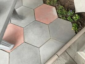 •New• Hexagon Stepping Stones / Flags/ Slabs / Paving - 450x450