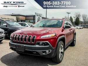 2015 Jeep Cherokee TRAILHAWK, 4X4, ONE OWNER, SUNROOF, BACKUP CA