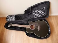 Yamaha Electro Acoustic Guitar with gig bag. Bargain price!