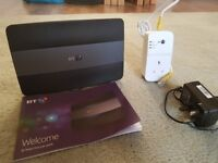 BT smart hub & BT Youview box bundle incl powerline adaptors