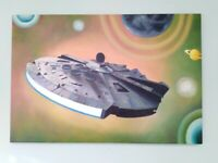 Large Star Wars Acrylic Painting.