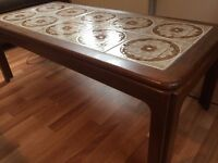Coffee table with tiled top