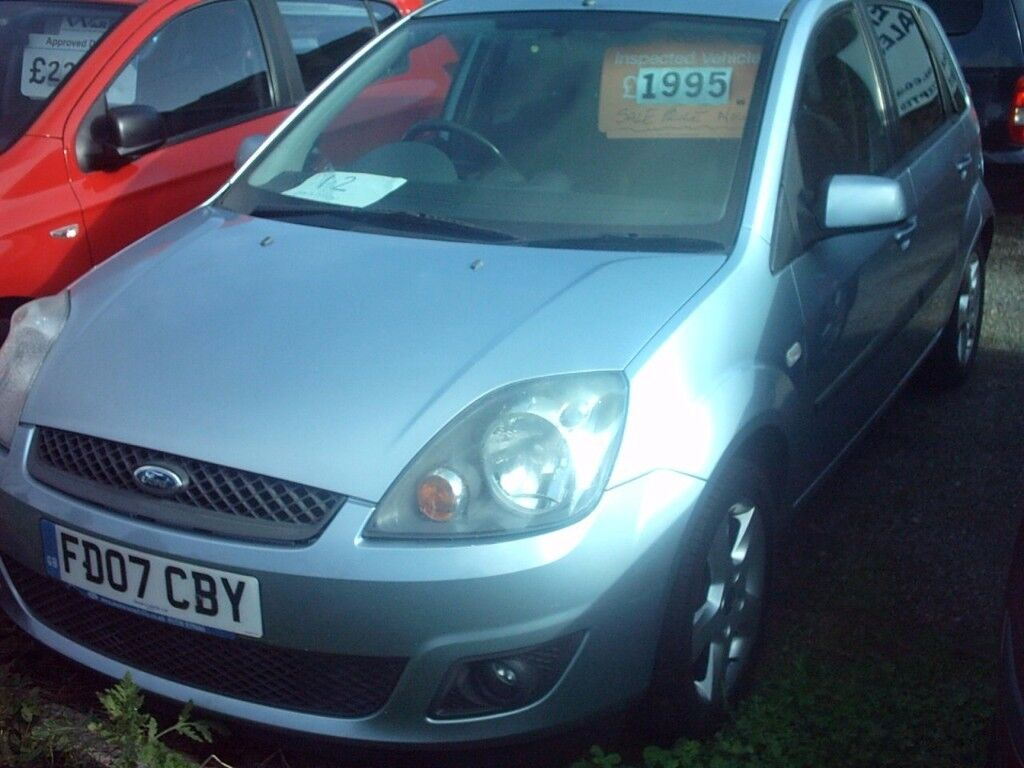 colchester ford fiesta 1.2 , 5 door , 07, lovely light metalic blue, 01206 397415