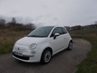 FIAT 500 LOUNGE HATCHBACK BRILLIANT WHITE £30 A YEAR ROAD TAX BARGAIN £1950 *LOOK* PX/DELIVERY