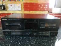 Technics stereo double cassette deck RS-X102