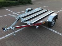 NEW 3 x Motorcycle Motorbike Trailer Tema Moto3 with a waterproof floor 750kg