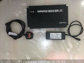 3.5 Sata to USB 2 .0 Enclosure 250GB HD Fitted