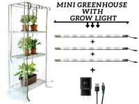 Mini Greenhouse with Grow Lights. Sezam XL. Free Shipping
