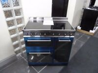 Brand New 90cm Range SMEG Symphony Electric Induction Range Cooker - Seel - Stainless Steel - SY931