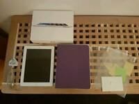 Boxed Apple ipad 4th generation 16gb wifi and cellular with new case and 3 screen protectors