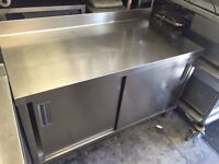 CATERING COMMERCIAL PREP WORK BOX TABLE CAFE RESTAURANT KEBAB CHICKEN BAKERY BUTCHER PIZZA KITCHEN